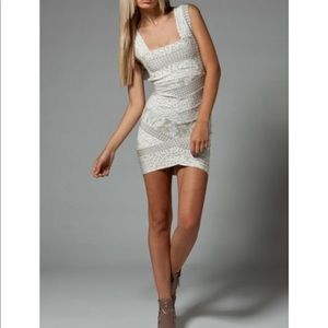 Herve Leger v Neck Mini Dress